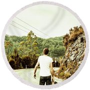 Way Of Old Travel Round Beach Towel