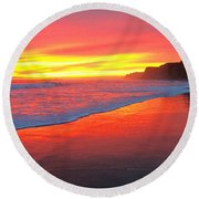 Way Out West Round Beach Towel