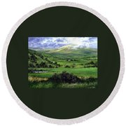 Way To Ardara Ireland Round Beach Towel