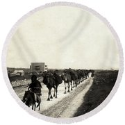 Way To Bethlehem Round Beach Towel