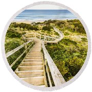 Way To Neck Beach Round Beach Towel