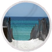 Way To The Beach Round Beach Towel
