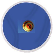 Way Up In The Air Round Beach Towel