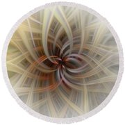 We Are All Connected Soft Abstract  Round Beach Towel
