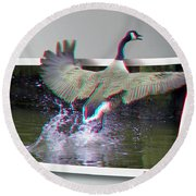 We Have Liftoff - Use Red-cyan 3d Glasses Round Beach Towel