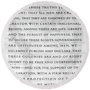 We Hold These Truths.... Round Beach Towel