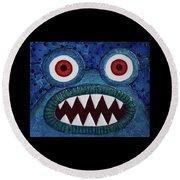 We Need Monsters #5 Round Beach Towel