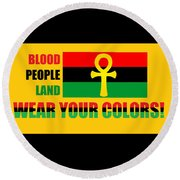Wear Red Black And Green Round Beach Towel