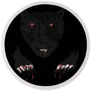 Wearwolf Round Beach Towel
