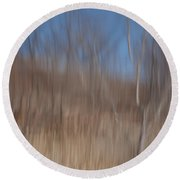 Weary Reflections Round Beach Towel