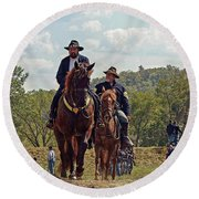 Weary Union Soldiers Round Beach Towel
