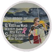 Weather The Storm Round Beach Towel