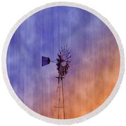 Weather Vane Sunset Round Beach Towel