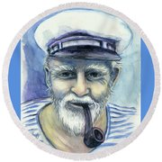 Weathered - He And His Memories... Round Beach Towel