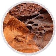 Weathered Sandstone Round Beach Towel by Leland D Howard