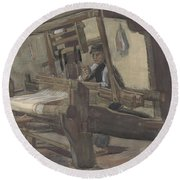 Weaver Nuenen, December 1883 - August 1884 Vincent Van Gogh 1853 - 1890 3 Round Beach Towel