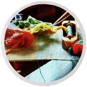 Weaving Supplies Round Beach Towel