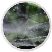 Web After Rain 2 Round Beach Towel