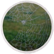Web After The Storm Round Beach Towel