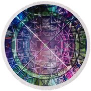 Web Matrix Round Beach Towel