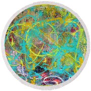 Web Of The Spider Round Beach Towel