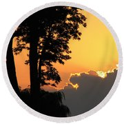 Webster Ny Sunset Round Beach Towel