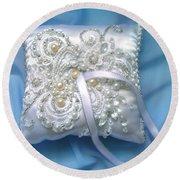 Wedding Ring Pillow. Ameynra Beadwork Round Beach Towel