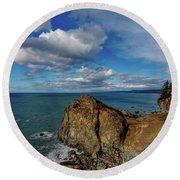 Wedding Rock Patrick Point Round Beach Towel