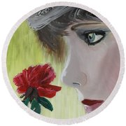 Wedding Rose Round Beach Towel