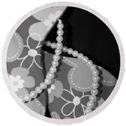 Wedding Shoes Round Beach Towel