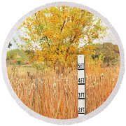 Weeds 035 Round Beach Towel