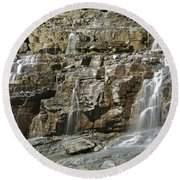 Weeping Wall Round Beach Towel