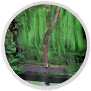 Weeping Willow Round Beach Towel