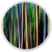 Weeping Yellowstone Trees Round Beach Towel