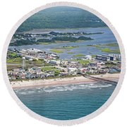 Welcome Aboard Surf City Topsail Island Round Beach Towel