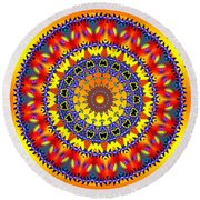 Welcome Home Round Beach Towel