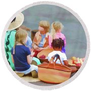 Welcome The Children Round Beach Towel