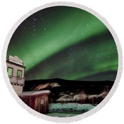 Welcome To Dawson City Round Beach Towel