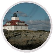 Welcome To Egg Rock Round Beach Towel