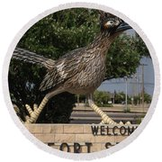 Welcome To Fort Stockton Round Beach Towel