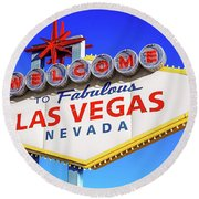 Welcome To Las Vegas Sign Only Boulder Highway Day Round Beach Towel
