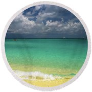 Welcome To Paradise Round Beach Towel