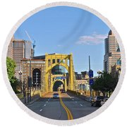 Welcome To Pittsburgh Pa Round Beach Towel