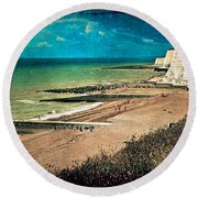 Welcome To Saltdean An Imaginary Postcard Round Beach Towel