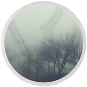 Welcome To Silent Hill Round Beach Towel