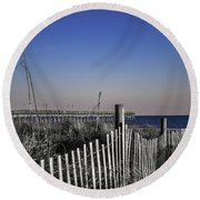 Welcome To The Beach Round Beach Towel