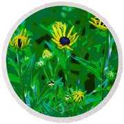 Welcome To The Garden Round Beach Towel