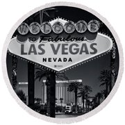 Welcome To Vegas Xi Round Beach Towel