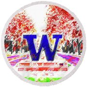 Welcome To Washington Round Beach Towel