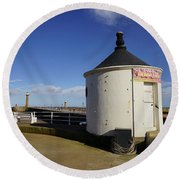Welcome To Whitby Round Beach Towel